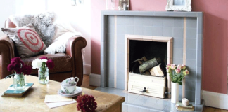 chimney breast wallpaper ideas
