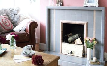 chimney breast wallpaper ideas