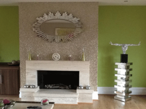pick designed chimney breast wallpaper ideas
