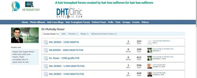 Dr. Muttalip Keser Hair Transplant Reviews
